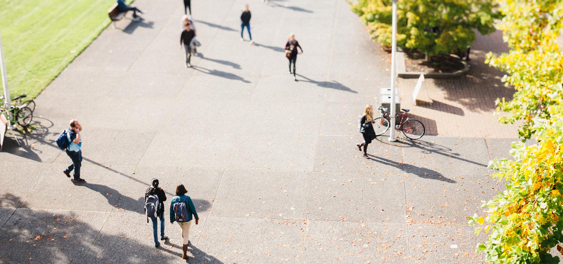 IVC students walking on campus