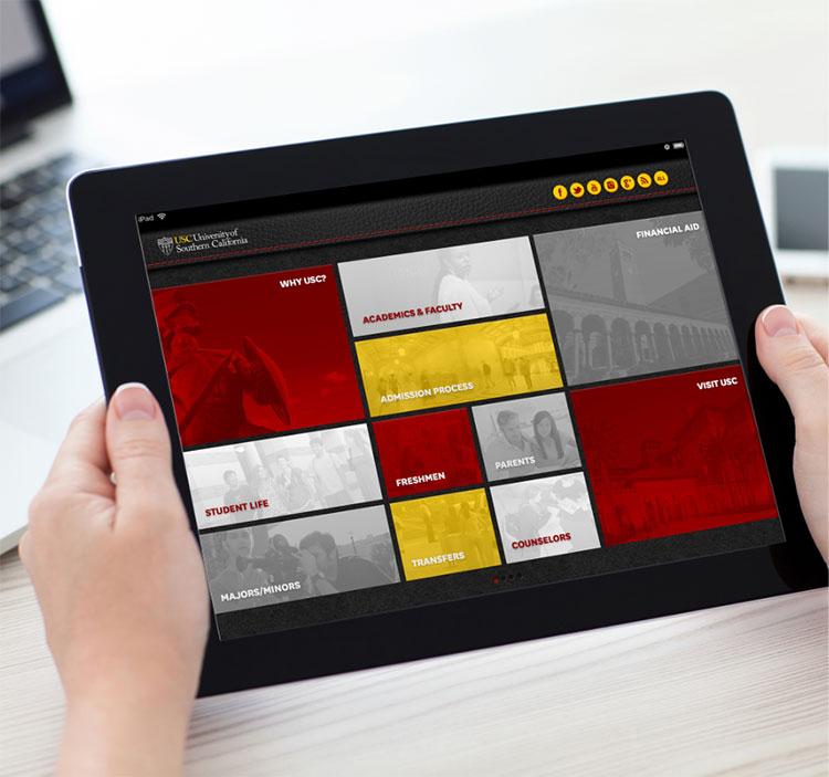 Digital interactive viewbook